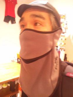 自転車用フェイスマスク