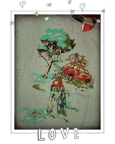 ルコック 自転車柄 Tシャツ